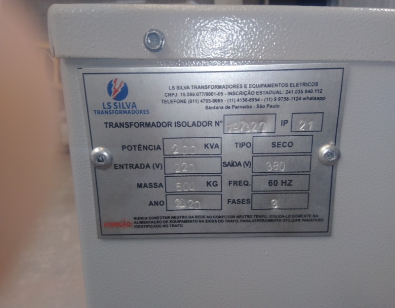 Isolador Transformador de Energia Fotovoltaico 1000 Kva Triângulo Mineiro - Isolador Energia Fotovoltaico
